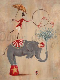 circus elephant art deco - Google Search