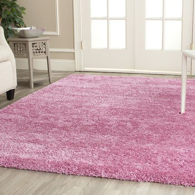 """Safavieh Shag Pink Indoor Area Rug Rug Size: 5'3"""" x 7'6"""""""