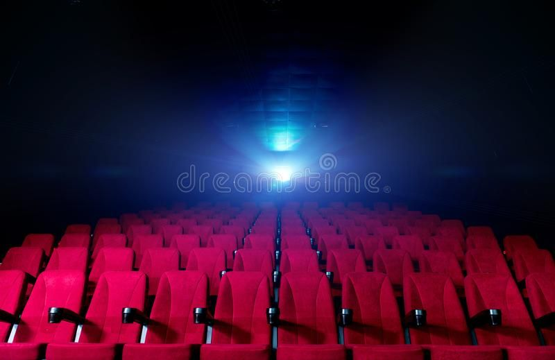 Movie Theatre Hall With Red Seats And Working Projector With Beams Of Light Sponsored Hall Red Movie Theatre S Theatre Hall Movie Theater Theatre