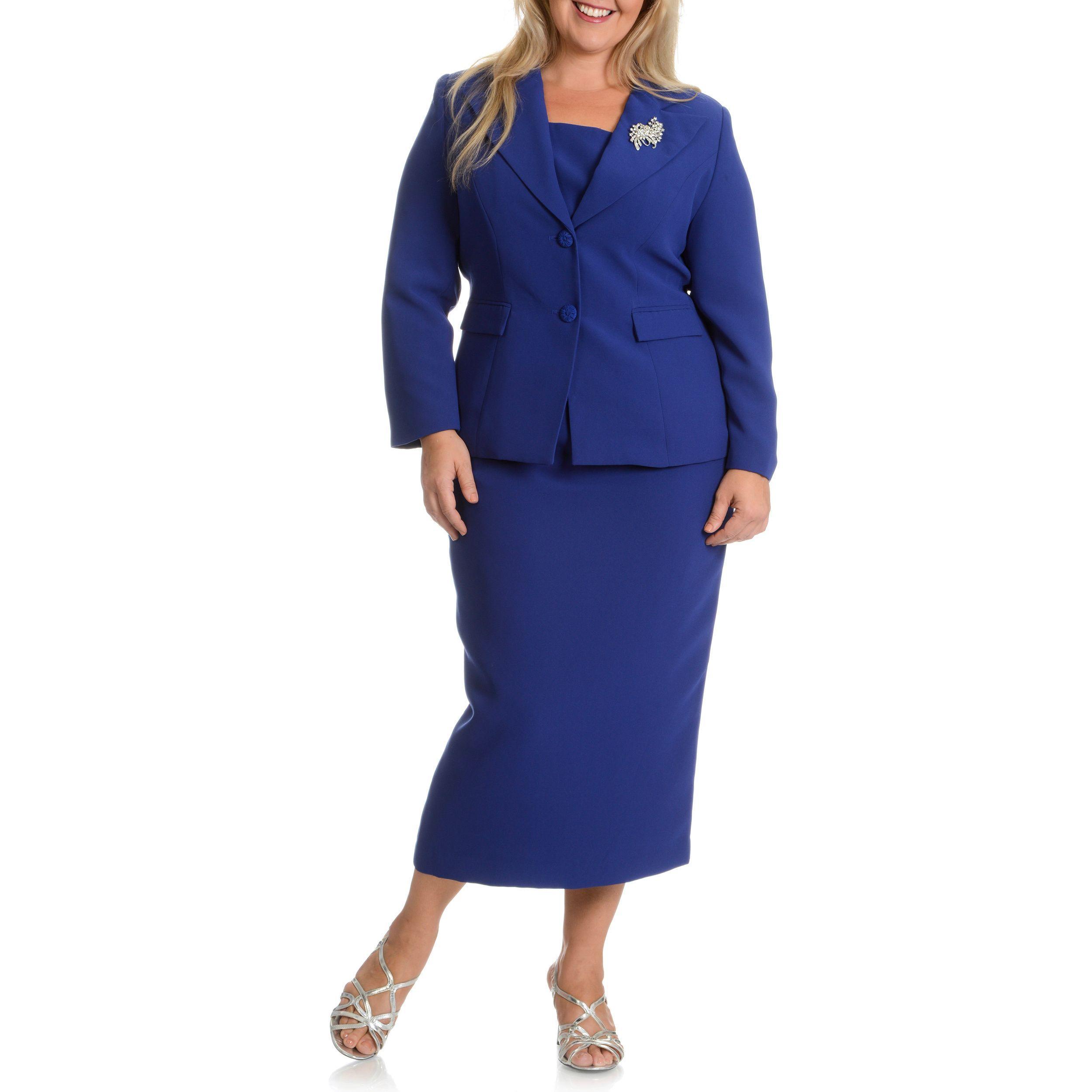 Plus Size Skirt Suits