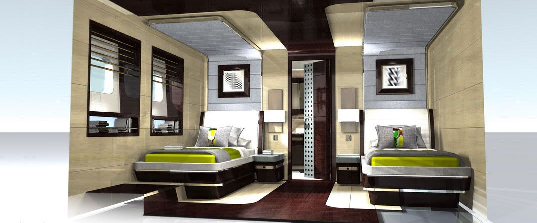 boat interiors boat interior design ideas is it luxurious twin modern bed