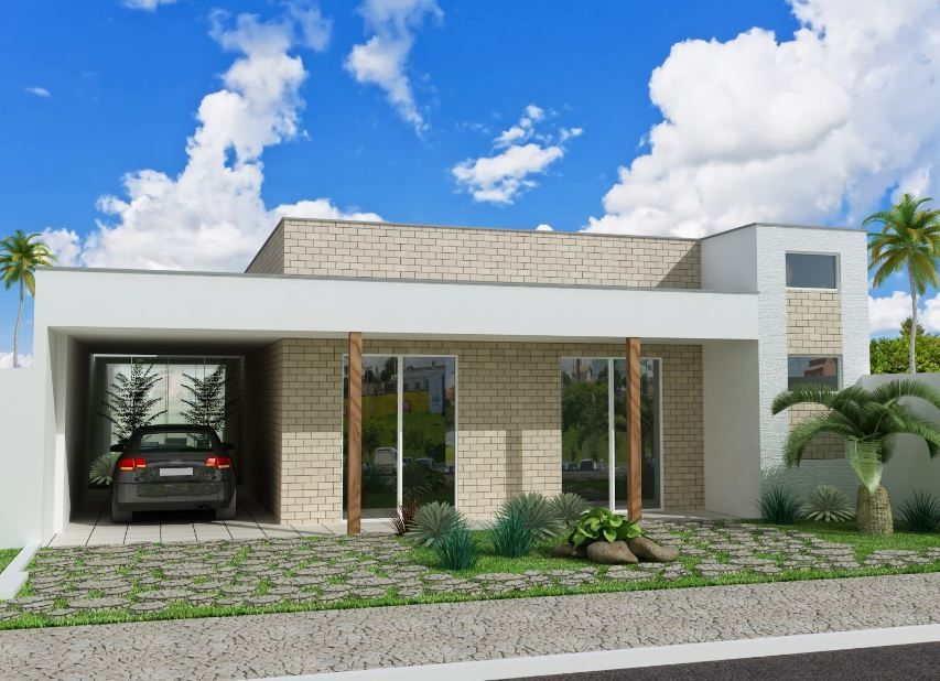 planos de casas modernas de 8 metros de frente