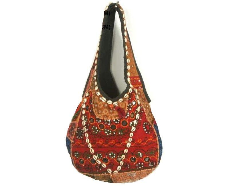 Bolso Boho Chic marrón, bolso otoño, bolso otoño-invierno en patchwork , con antiguas telas de la India y Pakistán.