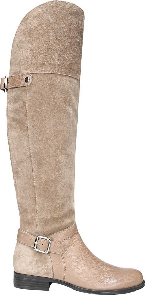 b74898d0897 Naturalizer January Over-The-Knee Riding Boot - Brown Leather Suede 7.5 Ww  (Extra Wide)