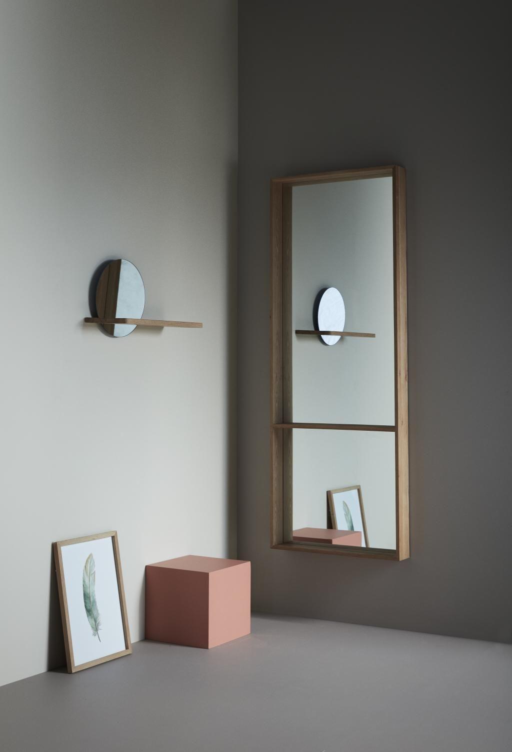 Spiegel Eiche Natur 60 X 160 Cm Hubsch Regalwand