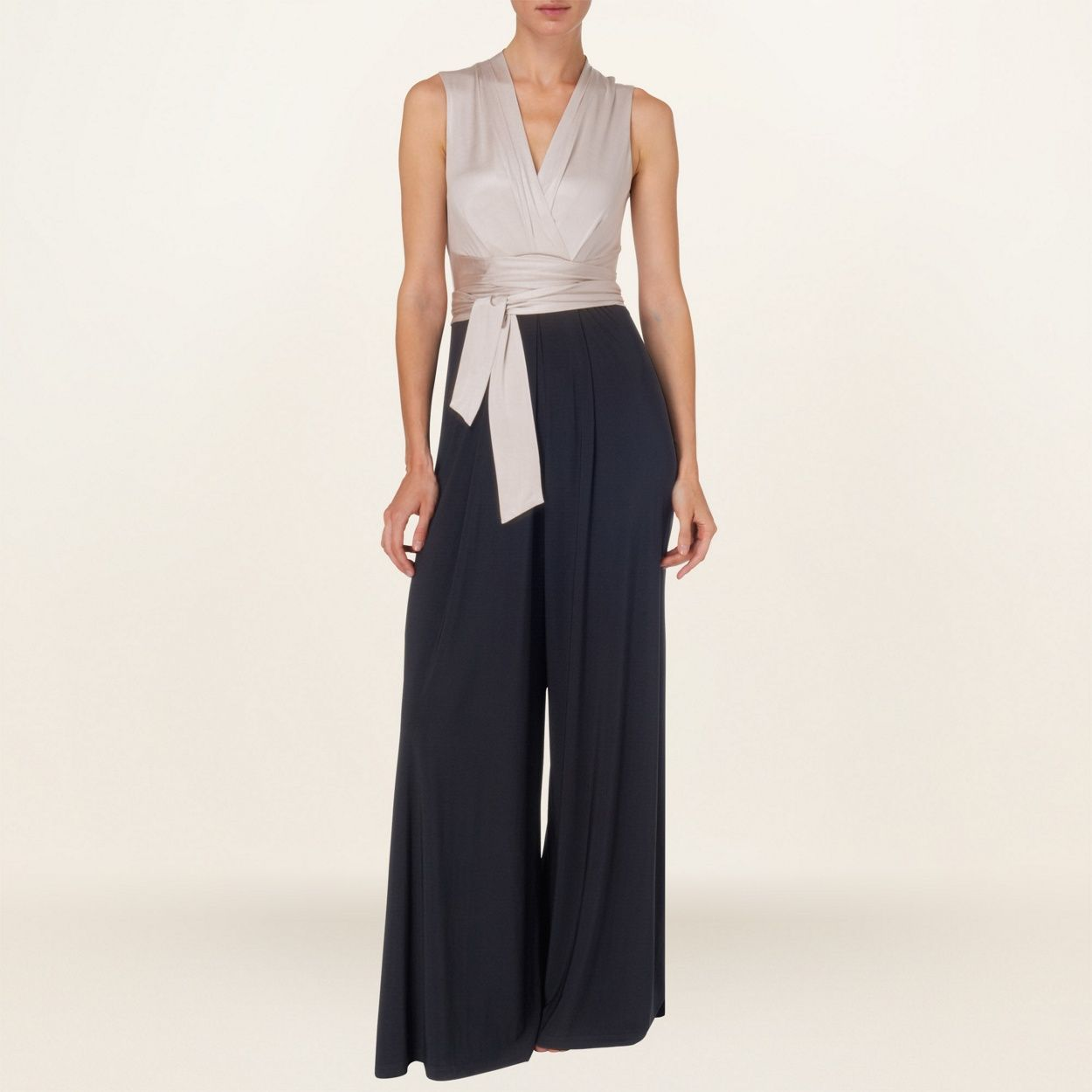 best place for how to purchase factory outlets Phase Eight Navy and Oyster amanda jumpsuit- at Debenhams ...