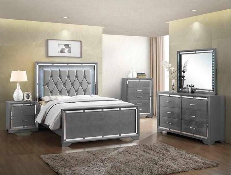 William LED Grey Bedroom Set - JannahsFurniture | Grey ...
