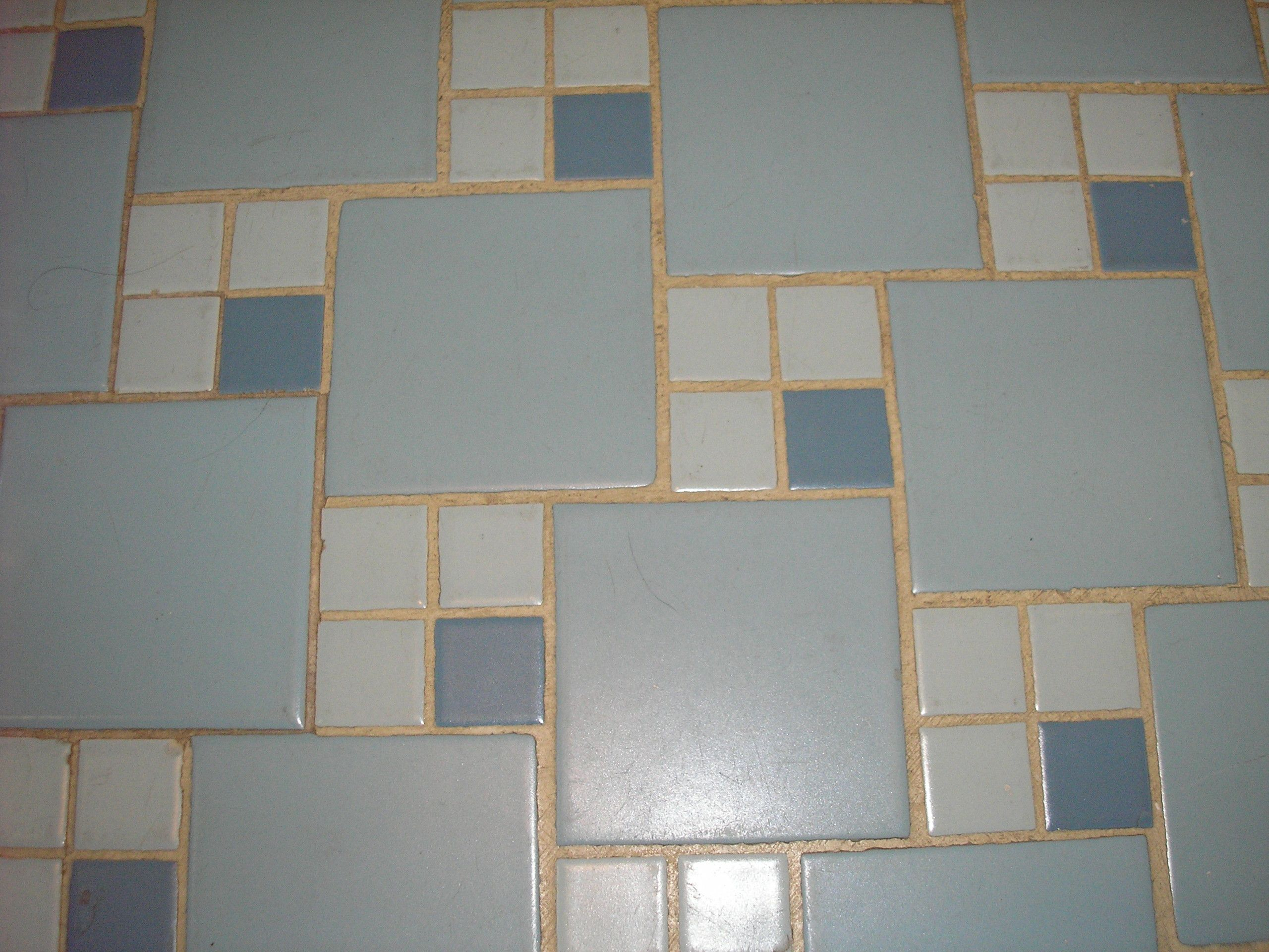 replicating alice's blue 50s bathroom tile floor | 50s bathroom