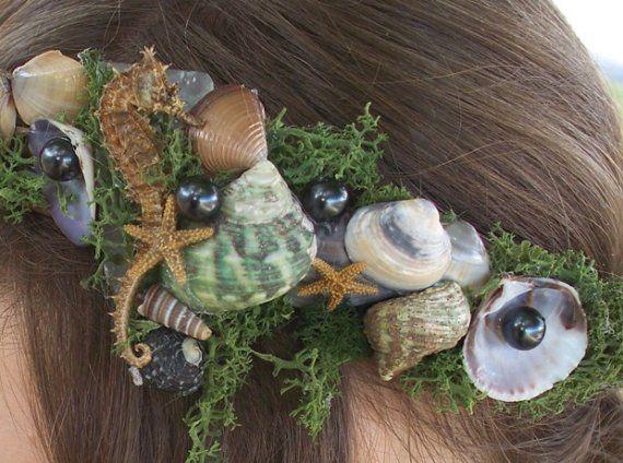 HALLOWEEN Sea Nymph Head Wreath by AprilHilerDesigns on Etsy