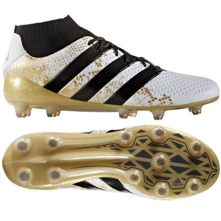 Adidas Ace 16 1 Primeknit Fg White Black Gold Metallic Soccer Boots Soccer Shoes Football Outfits