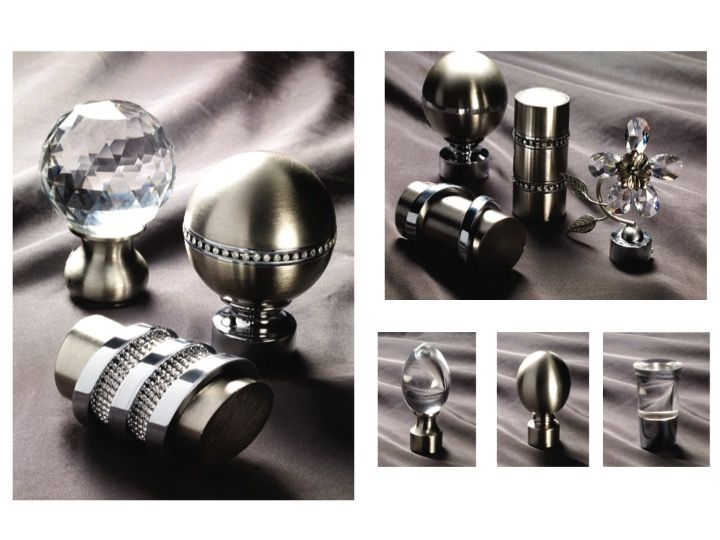 High End Luxury Finials Chrome Finials Satin Nickel Finials