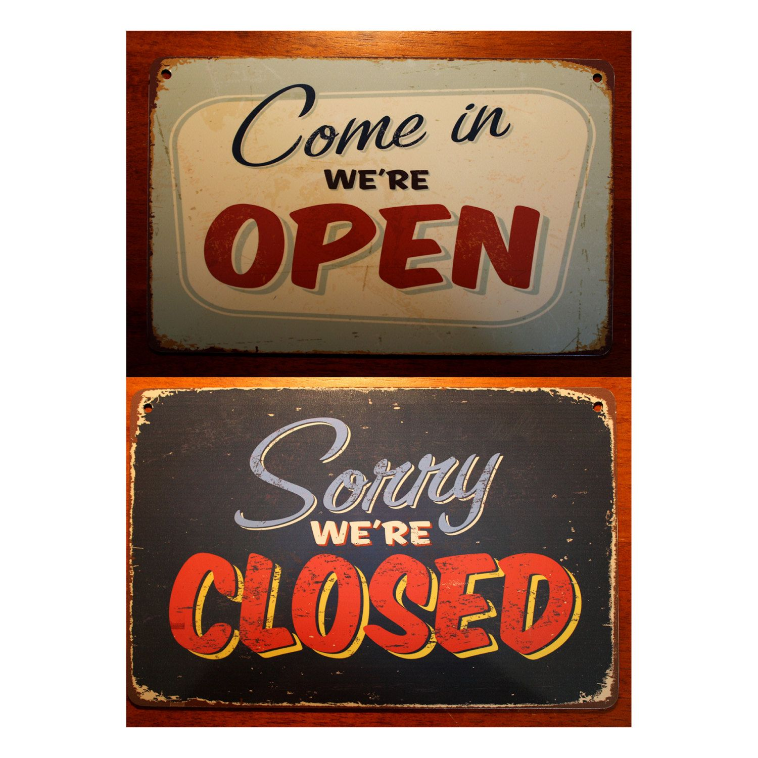 open closed sign vintage