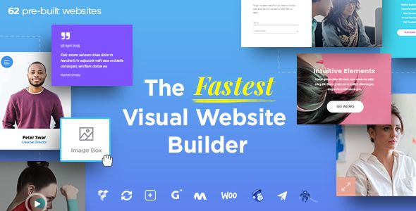 Massive Dynamic v43 WordPress Website Builder Blogger Template - resume website builder