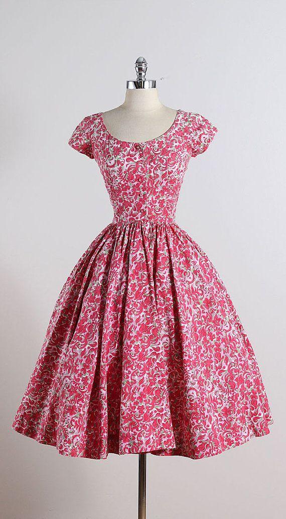 Jerry Gilden . vintage 1950s dress . vintage summer dress . 5591 ...