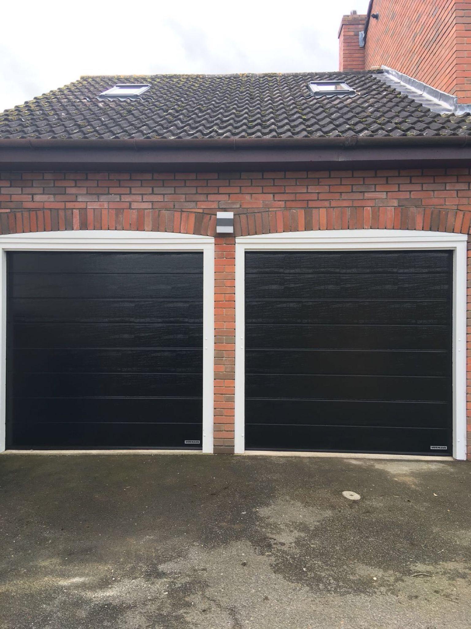 Hormann Sectional Garage Doors Black Garage Doors Sectional Garage Doors House Paint Exterior