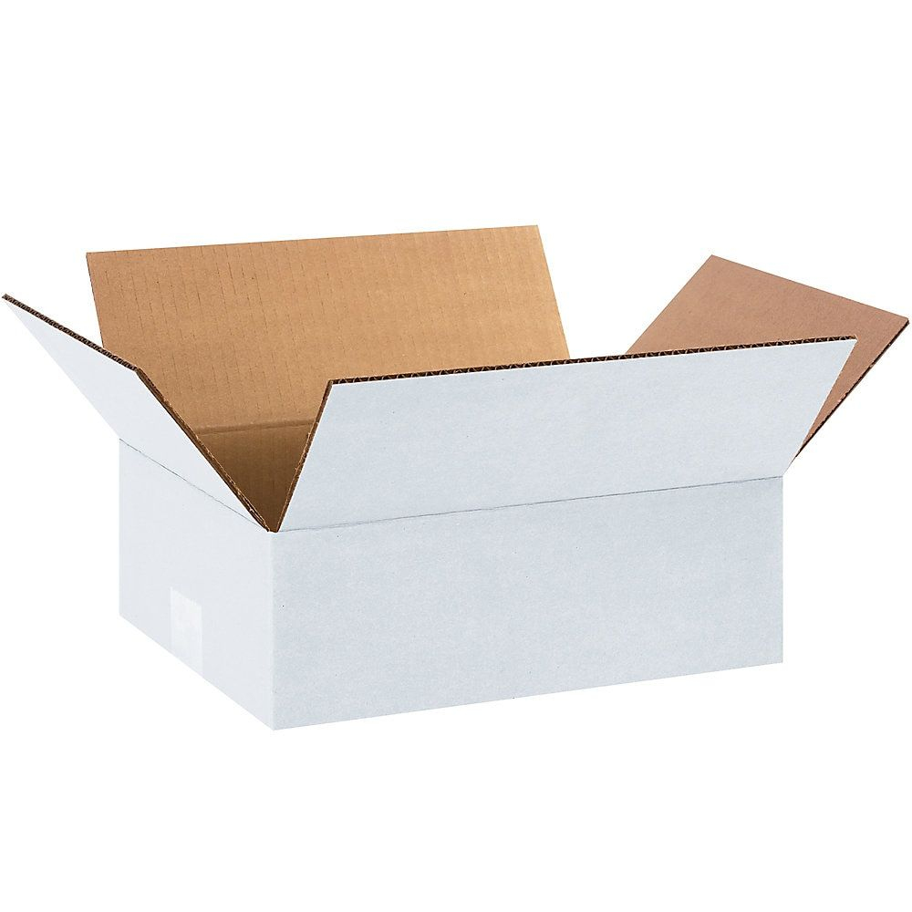 Brand White Corrugated Boxes 12 X 9 X 4 Bundle Of 25 Item