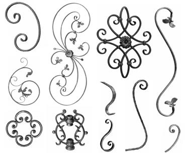 Elementi in ferro battuto ringhiere ferro battuto for Arredamento ferro battuto