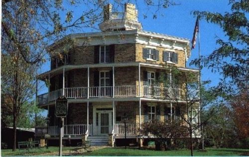 Octagon House Plans Home Vintage Blueprint Design Custom