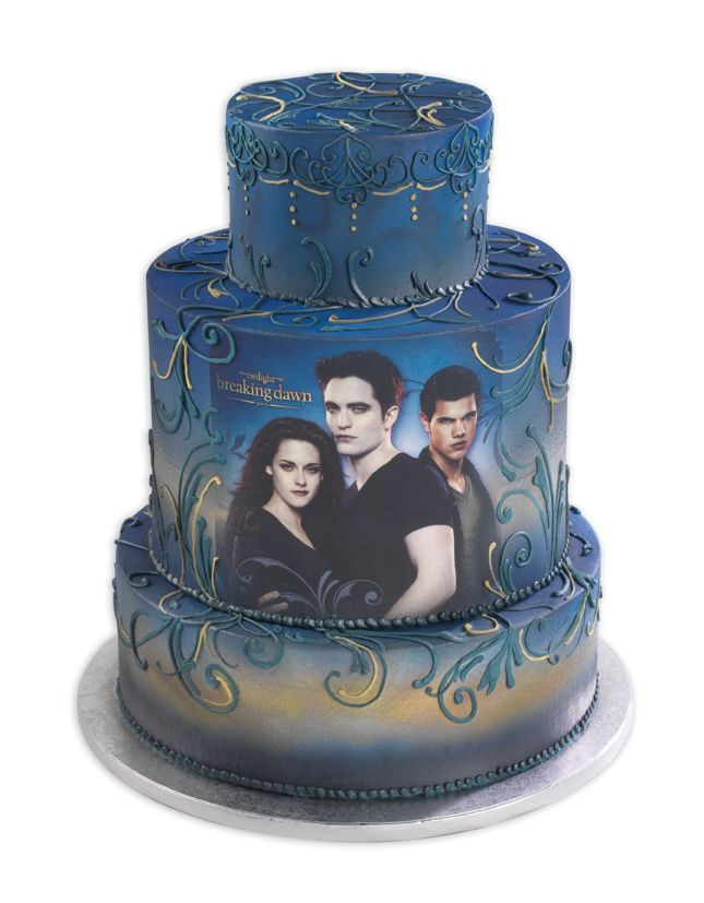 Marvelous Twilight Breaking Dawn Stacked With Images Twilight Cake Funny Birthday Cards Online Overcheapnameinfo