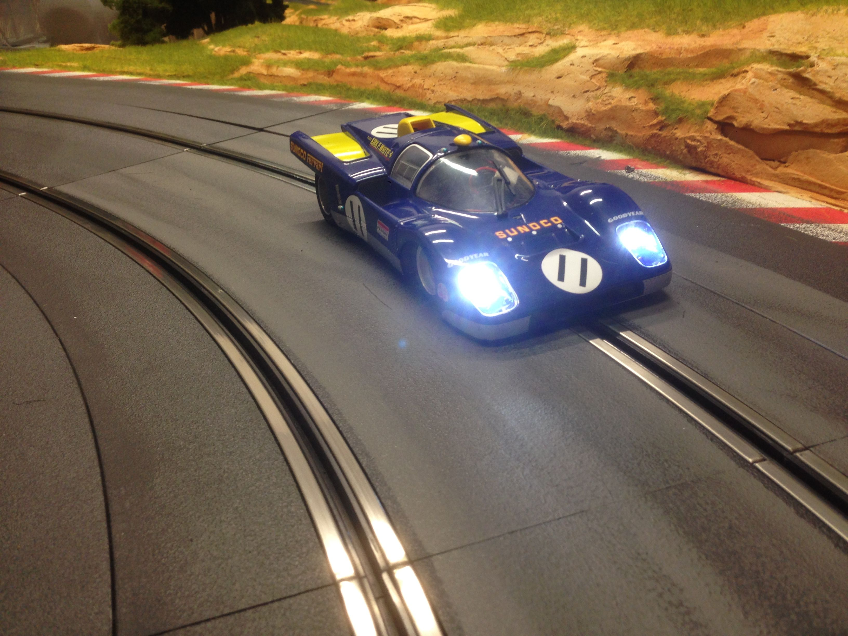 MOLETTARING SLOT TRACK FERRARI 512M SUNOCO / BRM MODEL CARS Team Penske at Le Mans