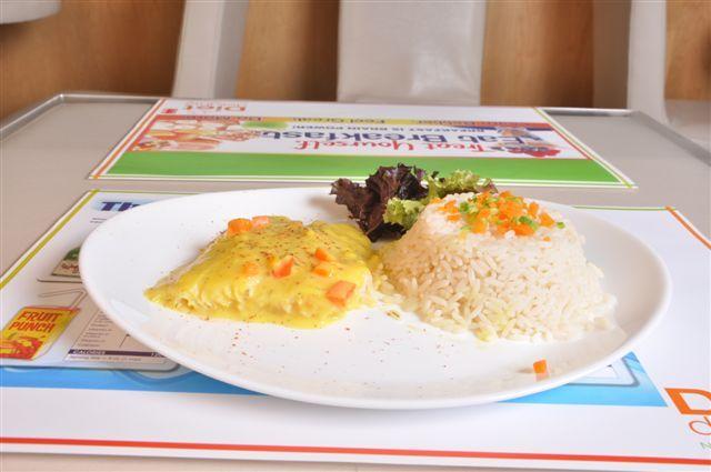 Filet de bar au safran et riz