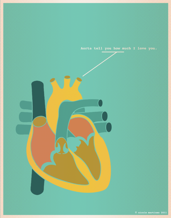 Aorta tell you how much I love you 1 of 13 love illustrations in