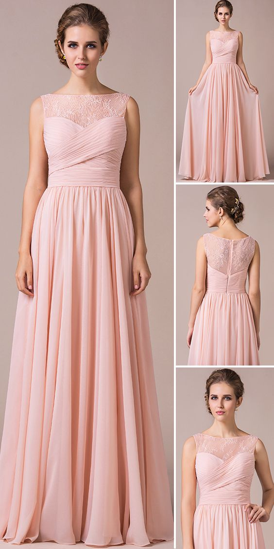 Pearl Pink Bridesmaid Dress. 32 Colours, tailor-made, customisable ...