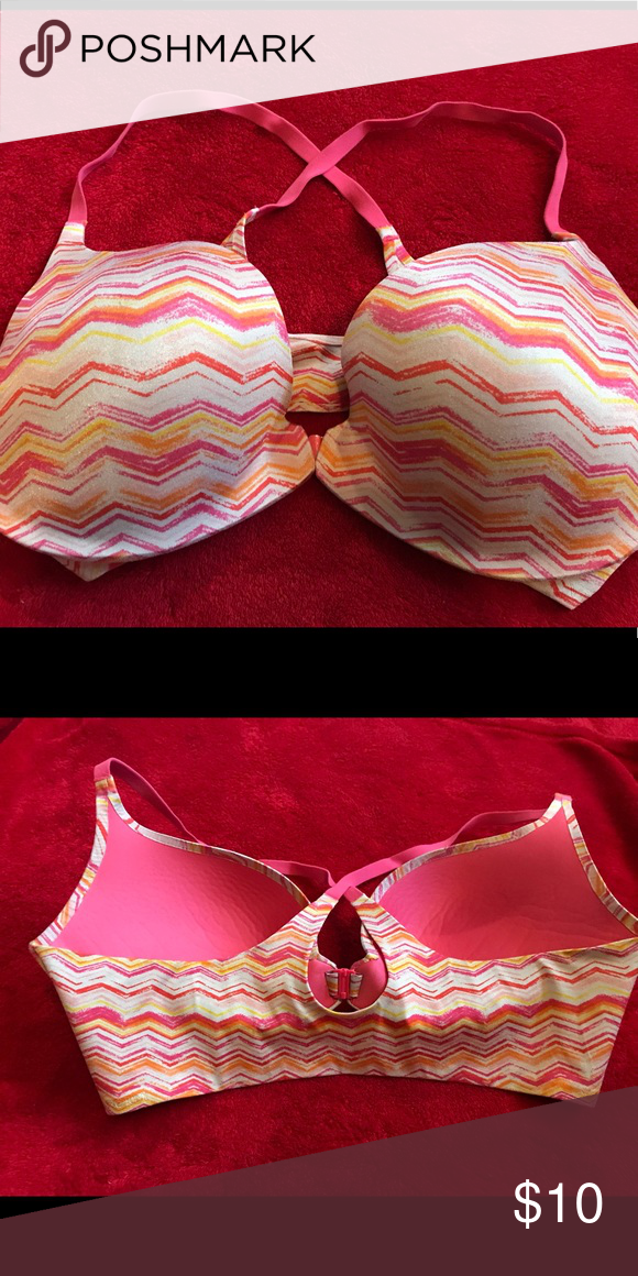 6980c08463 Victoria Secret push up bra Victoria Secret Push up bra. This bra is size.  36D clasps in the front. X back with a comfort band. Lined with an  underwire.