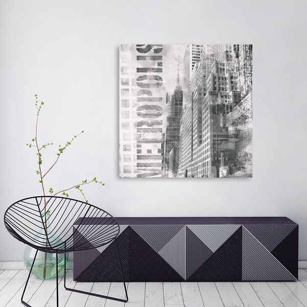 Discover «Metropolis», Numbered Edition Canvas Print by Andrea Haase - From 45€ - Curioos