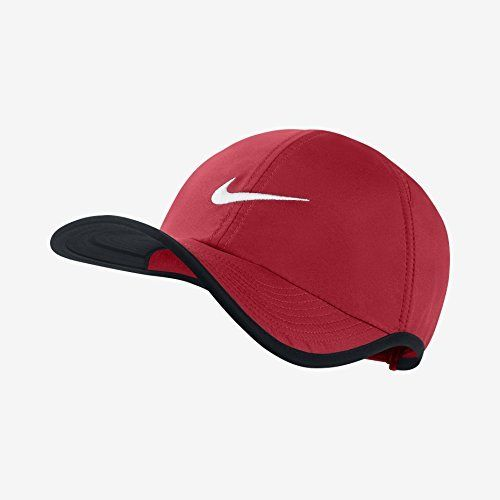 Nike Unisex Drifit Feather Light 20 Tennis Cap Hatredblackadjustable Learn More By Visiting The Image Link Black And Red Womens Baseball Cap Caps Hats