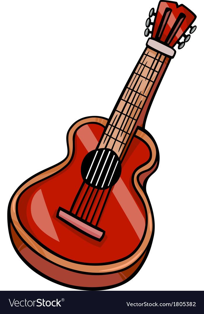 Cartoon Illustration Of Acoustic Guitar Musical Instrument Clip Art Download A Free Preview Or High Quality Adobe I Clip Art Cartoon Clip Art Everyday Objects