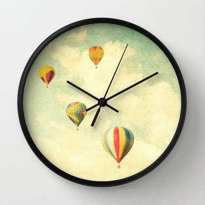Drifting+Balloons+Wall+Clock+by+Bomobob+-+$30.00