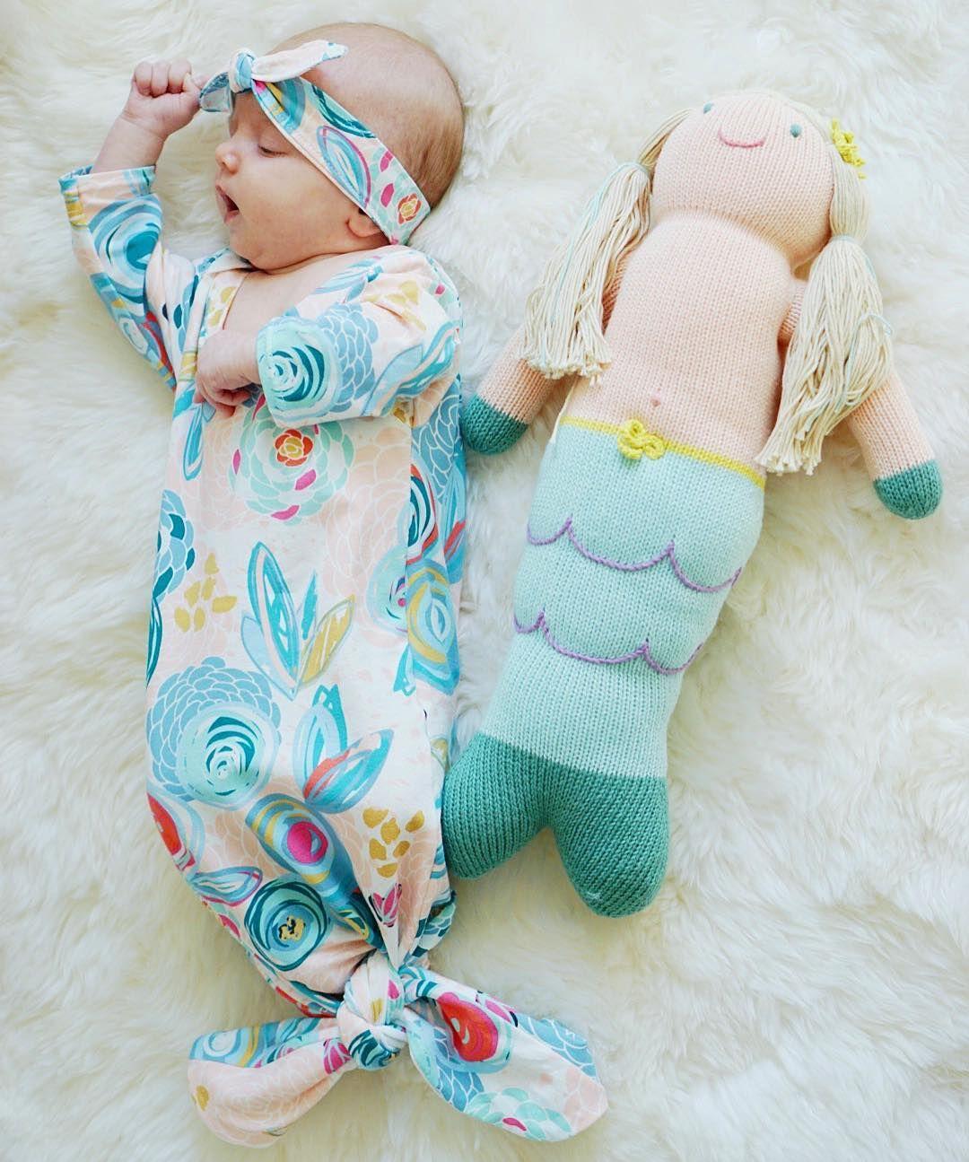 Baby mermaid gown, baby sleeping gown, mermaid gown, baby sleep sack ...