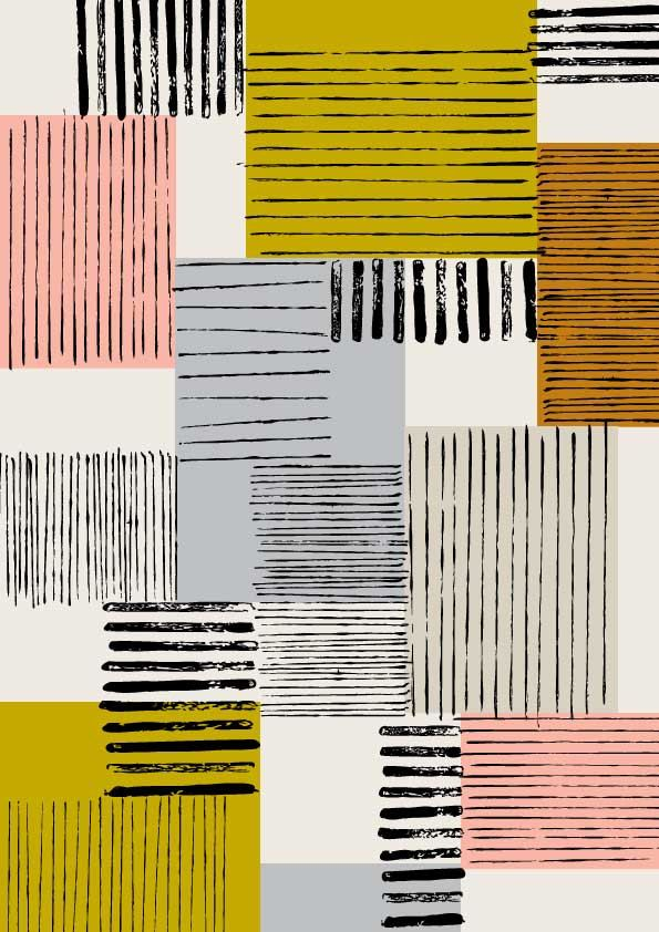 Colour Block No1, limited edition giclee print.Eloise ...