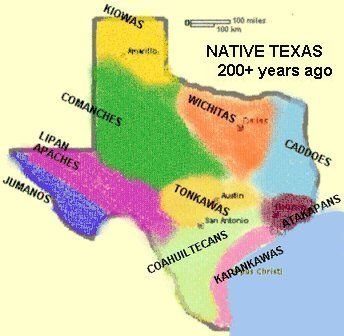 Indian Tribes Of Texas Map