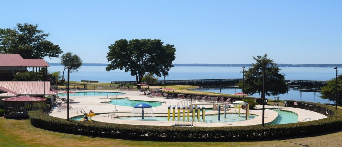 Palmetto Shores Rv Resort Resort Pool Area Lakefront