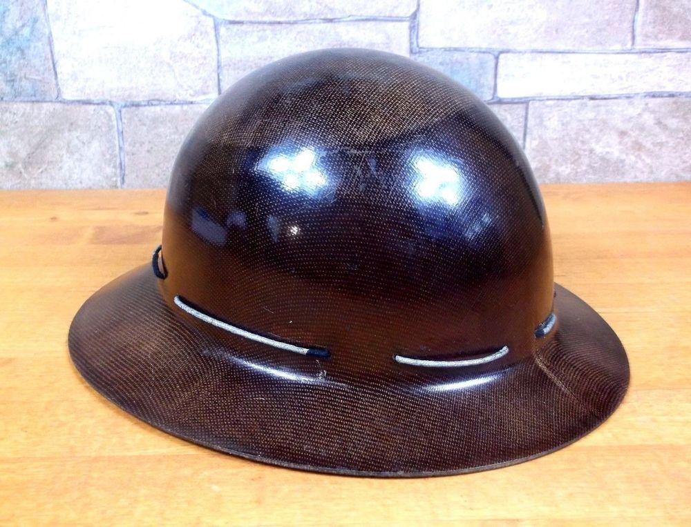 Vintage 1940s MSA SKULLGARD MINERS HELMET hard hat