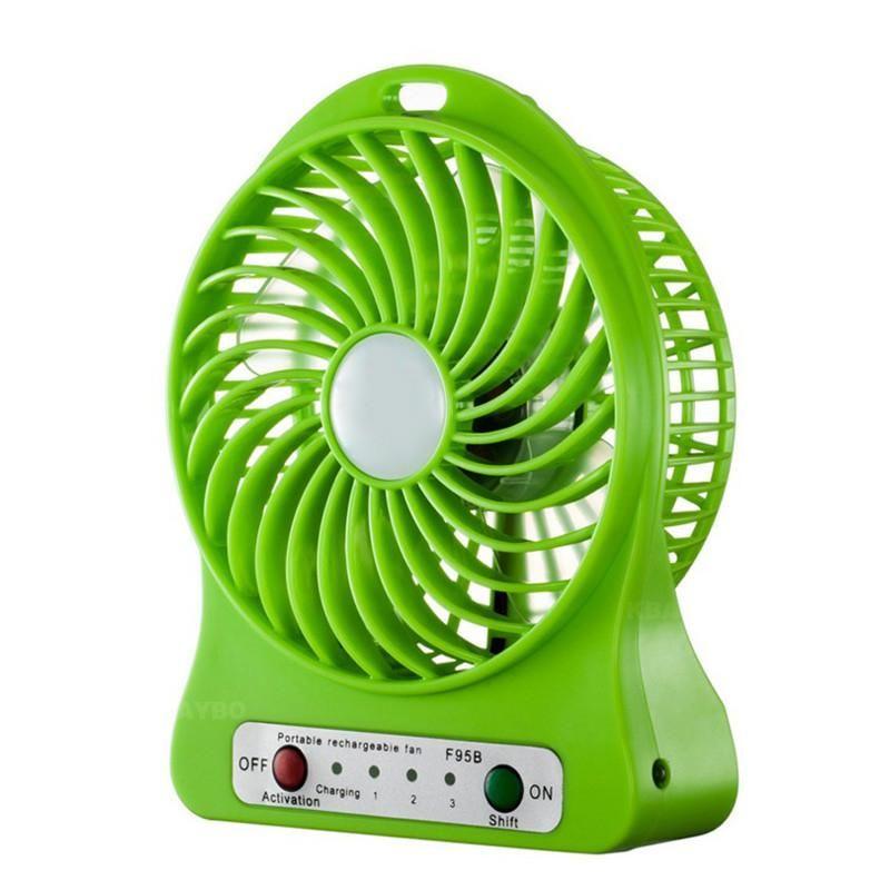 Usb Mini Fan Portable Electric Fans Led Portable Rechargeable