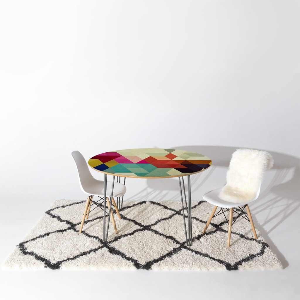 Three Of The Possessed Modele 7 Round Table | DENY Designs Home Accessories
