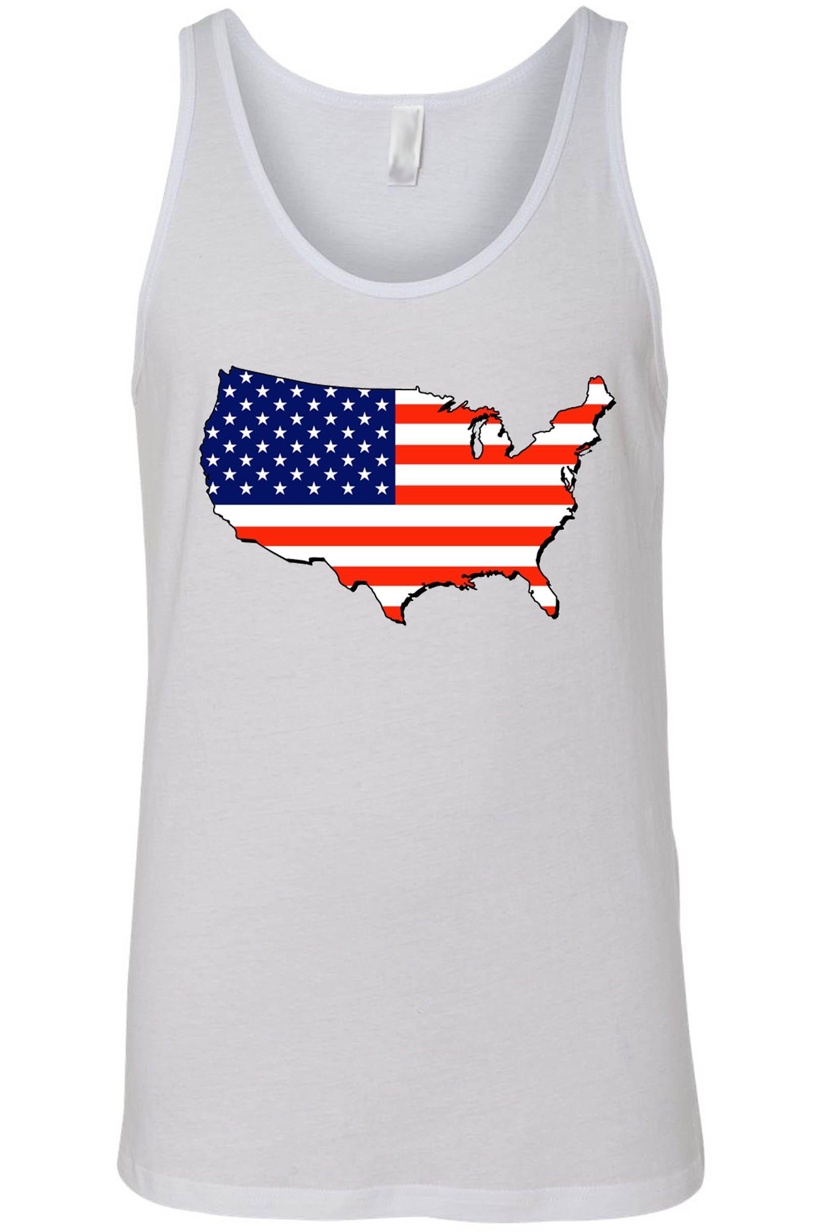 d61624e74d4 USA Flag Tank Top Men s Love For Your Country WHITE - SHORETRENDZ Drapeau  Usa