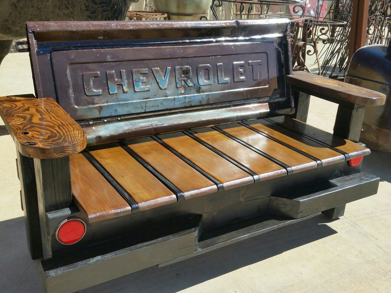 Vintage Chevrolet Tailgate Bench Tailgate Bench Diy Bench Seat Truck Tailgate Bench