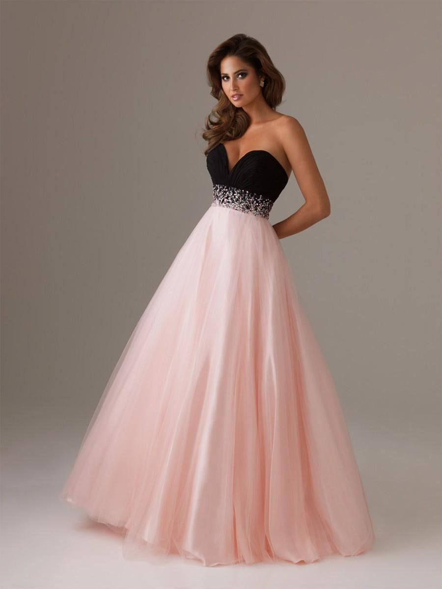 Pink and Black Prom Dresses | Sangmaestro