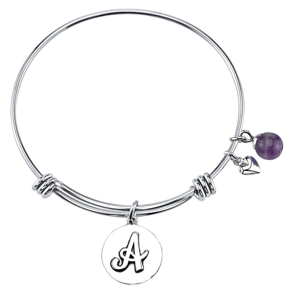 Stainless Steel Expandable Bracelet Initial