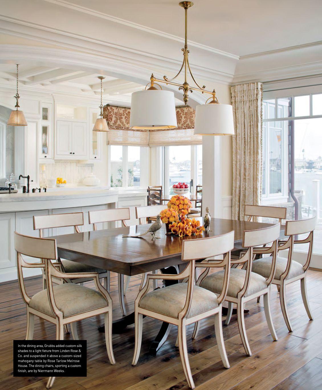 Niermann Weeks Elgin Chairs In A Southern California Dining