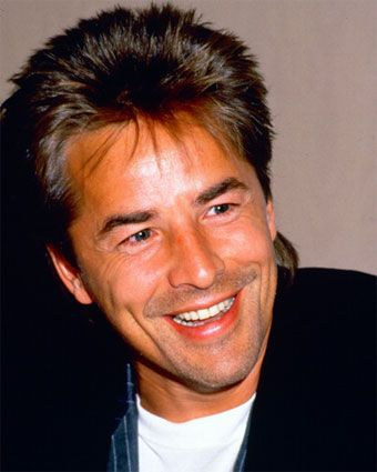 Don Johnson is an American actor, featured on the television series Miami Vice and Nash Bridges. Description from celebheightsite.com. I searched for this on bing.com/images