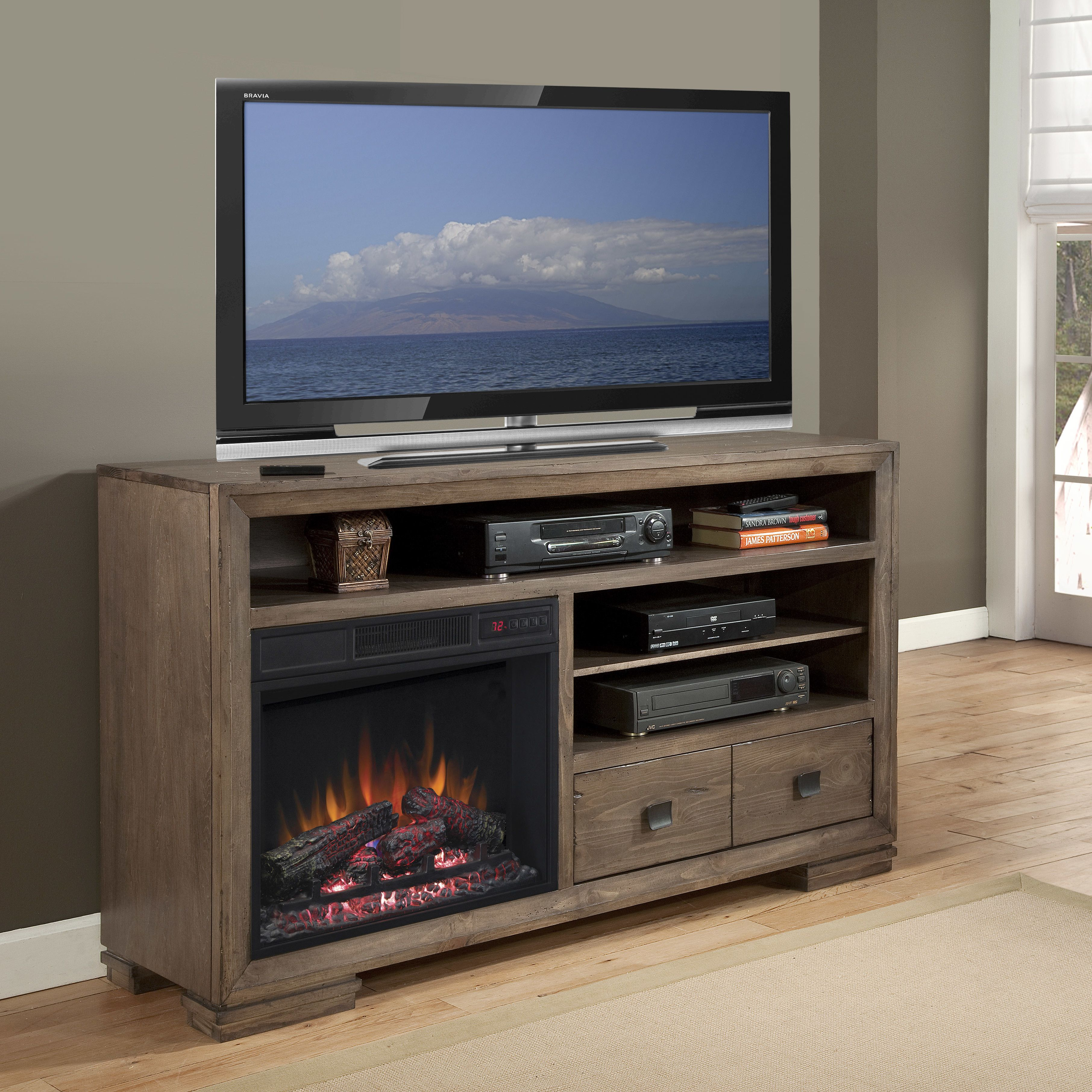 Progressive Furniture Inc. Mulholland TV Stand With Electric Fireplace
