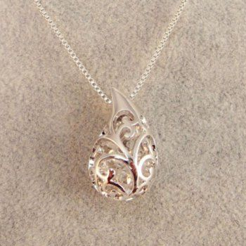 Exquisite Faux Crystal Embellished Water drop Shape Pendant Necklace