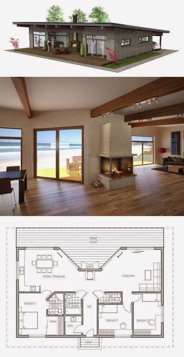Architecture House Dream Homes Floor Plans House Plans Small House Design Tiny House Design
