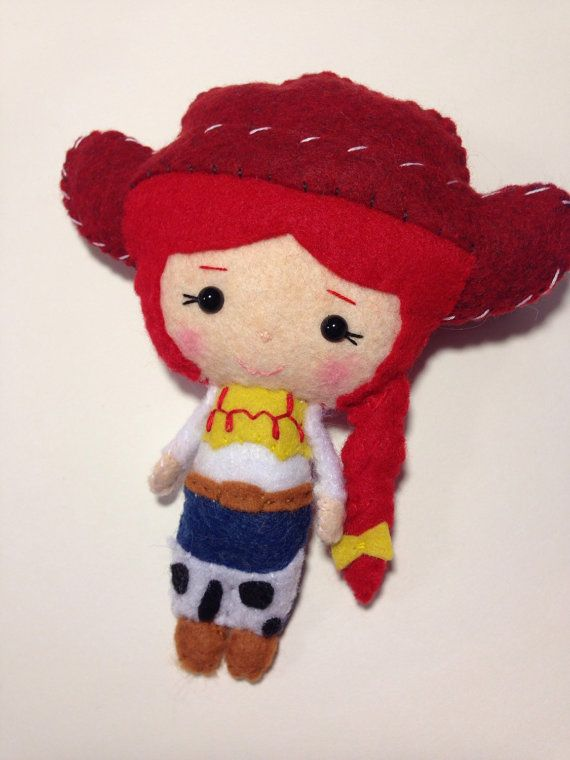 d99ae1fa3b00d Woody and Jessie Toy Story Felt Plush Dolls Woody and by RueVogue ...