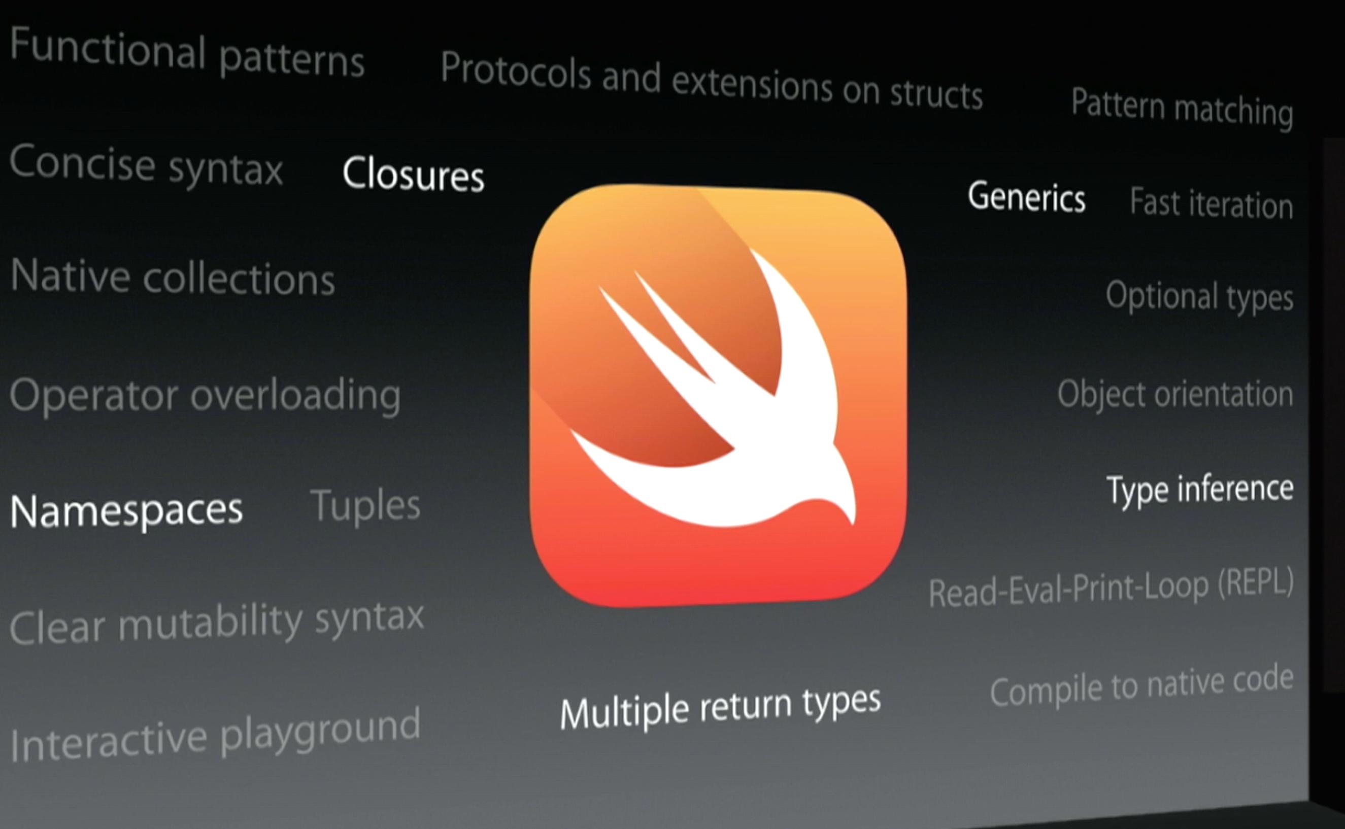 Programming language for mac os x